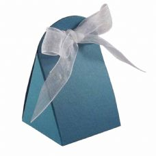 Teal Round Top Designer Favour Boxes